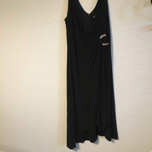 Elegant Black Cocktail Dress-Size 16